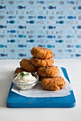 Fish cakes with mayonnaise