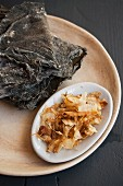 Kombu and bonito flakes