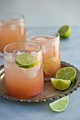 Paloma cocktails with tequila and grapefruit juice