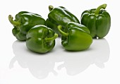 Five green peppers