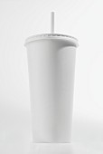White milkshake in a cardboard cup