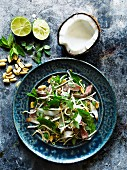 Beef salad with coconut and peanuts (Thailand)
