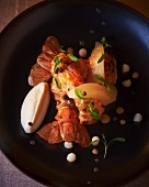 Langoustine with vegetable mousse