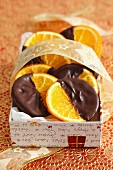 Candied orange slices dipped in chocolate (for Christmas)