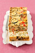 Vegetable terrine with peppers and courgette