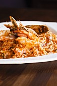 Spicey Risotto with Prawns and Octopus