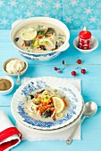 Carp soup with vegetables (Christmassy)