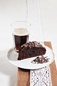 Chocolate cake and dark beer