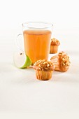 Hazelnut muffins with apple tea