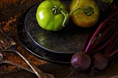 Red Beets and Tomatoes