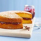 Victoria Sponge cake with jam