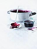 Home-made elderberry jam