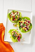 Tuna Wraps in Lettuce Cups