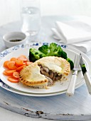 Chicken Mushroom Pie with Broccoli and Carrots