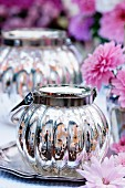 Silvered glass lantern as autumn table decor