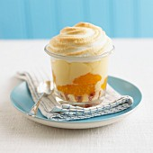 Baked Alaska trifle with mandarine oranges