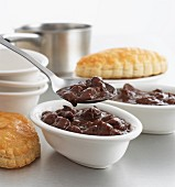 Beef pies (beef stew with pastry, England)