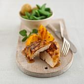 Chicken breast with orange glaze