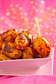 Fried new potatoes with piri piri