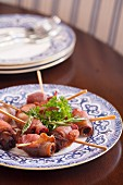 Appetizers of Bacon Wrapped Dates