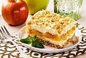 Apple and cheese granola dessert