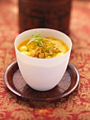 Oriental carrot and ginger soup with star anise