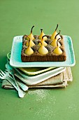 Pear brownie