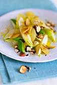 Endive salad with hazelnuts and avocado
