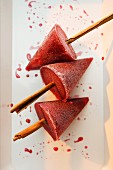 Mulled wine ice lollies