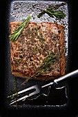 Roast beef with herbs