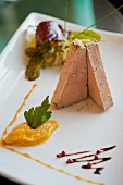 Goose liver with squash pur