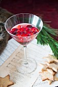 Cranberry vodka for Christmas