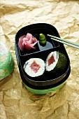 Maki sushi with tuna