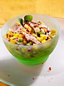 Avocado and mango salad with chicken
