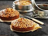 Freshly baked pine nut cake