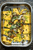 Polenta with porcini mushrooms and herbs