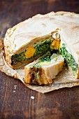 Torta Pasqualina (spinach pie with egg, Italy)