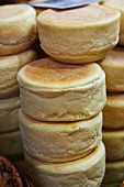 English muffins, stacked