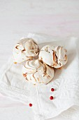 Zebras - Marbled Meringue Cookies on a white napkin