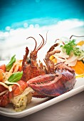 Seafood platter with lobster