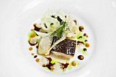 Fillet of hake with fennel (close-up)