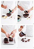 Making chocolate surprise eggs for Easter