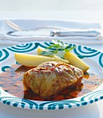 Cabbage roulade with potatoes
