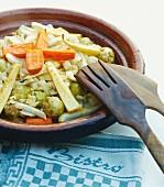 Warming oven-roasted vegetables with caramelised honey glaze for winter