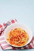 Bucatini all Amatriciana (Latium, Italien)