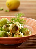 Brussels sprouts in dill sauce