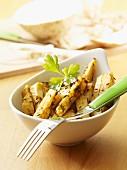 Celeriac batons with caraway