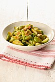 A side of Brussels sprouts with buttered breadcrumbs