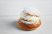 Semla (a cream-filled profiterole, Sweden)