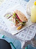 Baguettesandwich mit Fisch